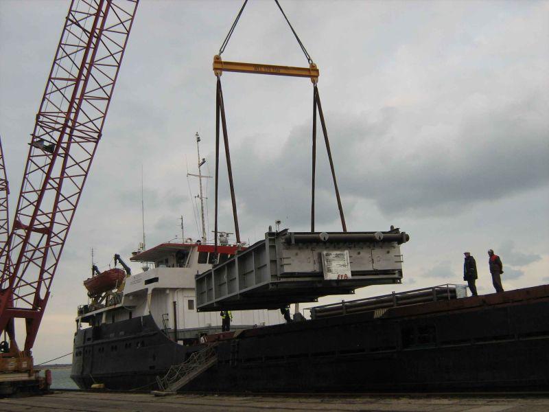 Proiect multimodal auto / maritim Buzau - Tuapse, Rusia
